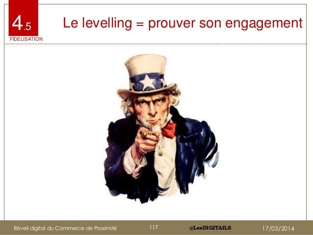 @LesDIGITAILS@LesDIGITAILS Le levelling = prouver son engagement4.5 FIDELISATION Réveil digital du Commerce de Proximité 1...