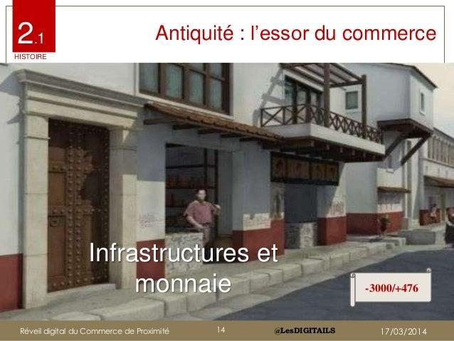 """@LesDIGITAILS@LesDIGITAILS Antiquité : l""""essor du commerce Infrastructures et monnaie -3000/+476 2.1 HISTOIRE Réveil digit..."""