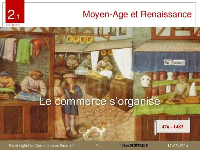 "@LesDIGITAILS@LesDIGITAILS Moyen Âge : Le commerce s'organise Le commerce s""organise 476 - 1483 Moyen-Age et Renaissance2...."