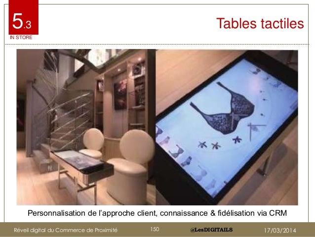 """@LesDIGITAILS@LesDIGITAILS Tables tactiles Personnalisation de l""""approche client, connaissance & fidélisation via CRM 5.3 ..."""