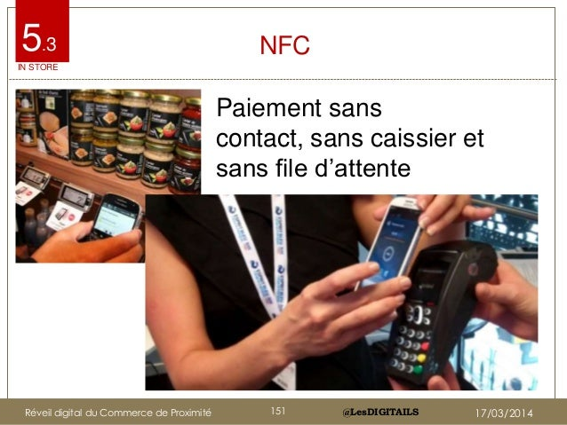 """@LesDIGITAILS@LesDIGITAILS NFC Paiement sans contact, sans caissier et sans file d""""attente Etiquettes NFC en magasin Casin..."""