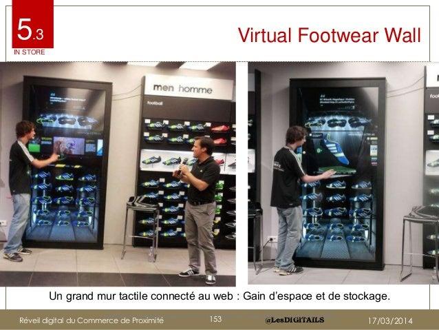 """@LesDIGITAILS@LesDIGITAILS Virtual Footwear Wall Un grand mur tactile connecté au web : Gain d""""espace et de stockage. http..."""