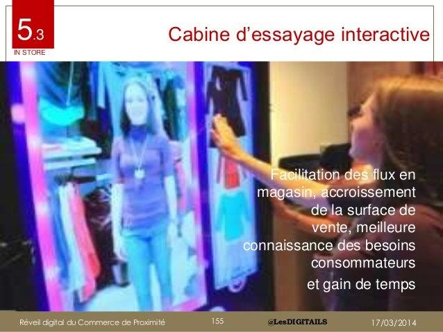 """@LesDIGITAILS@LesDIGITAILS Cabine d""""essayage interactive Facilitation des flux en magasin, accroissement de la surface de ..."""