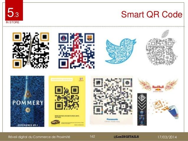 @LesDIGITAILS@LesDIGITAILS Smart QR Code5.3 IN STORE Réveil digital du Commerce de Proximité 162 17/03/2014