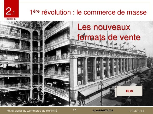 @LesDIGITAILS@LesDIGITAILS Les nouveaux formats de vente 1ère révolution : Le commerce de masse 1838 1ère révolution : le ...