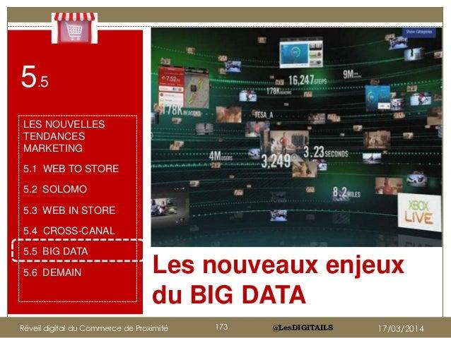@LesDIGITAILS Les nouveaux enjeux du BIG DATA Cliquez sur l'icône pour ajouter une image 5.5 LES NOUVELLES TENDANCES MARKE...
