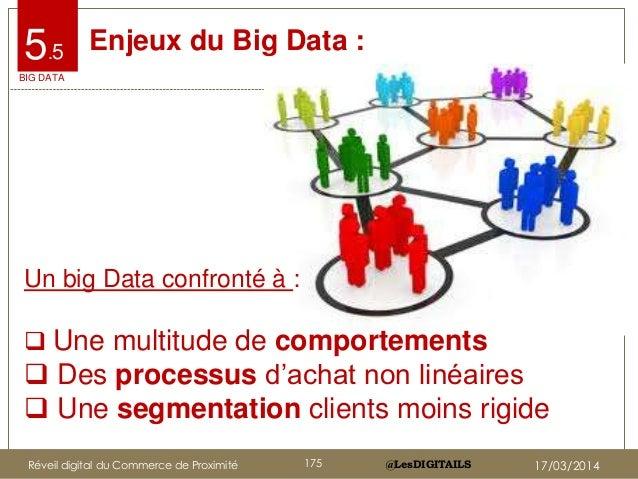 @LesDIGITAILS@LesDIGITAILS Enjeux du Big Data : Un big Data confronté à :  Une multitude de comportements  Des processus...