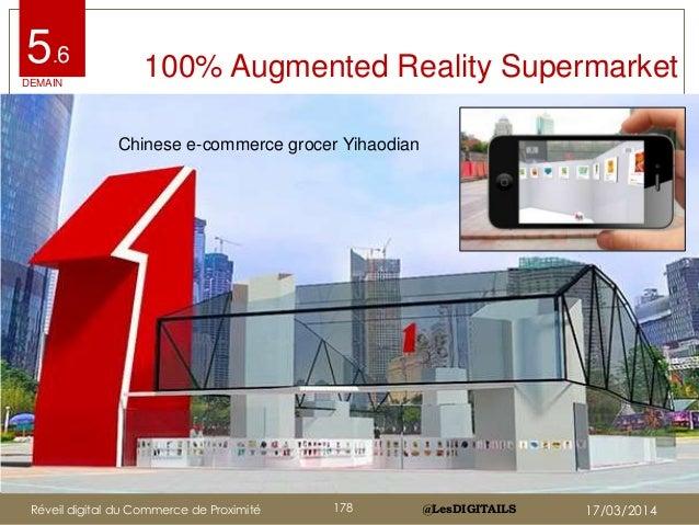 @LesDIGITAILS@LesDIGITAILS 100% Augmented Reality Supermarket5.6 Chinese e-commerce grocer Yihaodian DEMAIN Réveil digital...