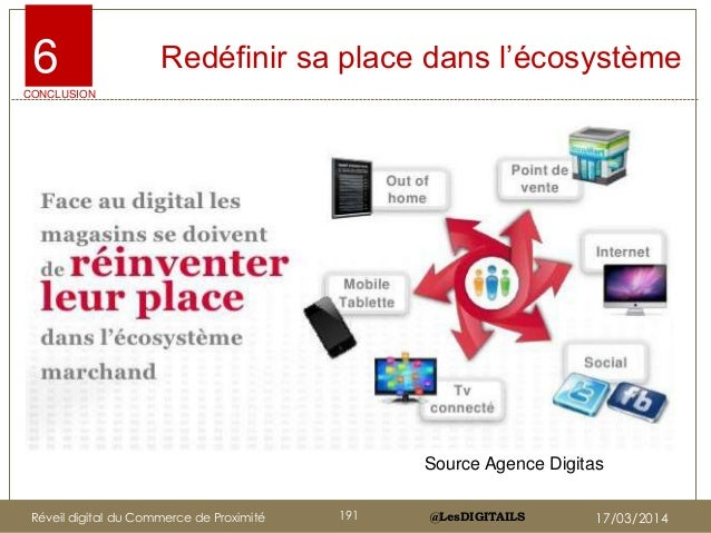 """@LesDIGITAILS@LesDIGITAILS Redéfinir sa place dans l""""écosystème6 CONCLUSION Source Agence Digitas Réveil digital du Commer..."""