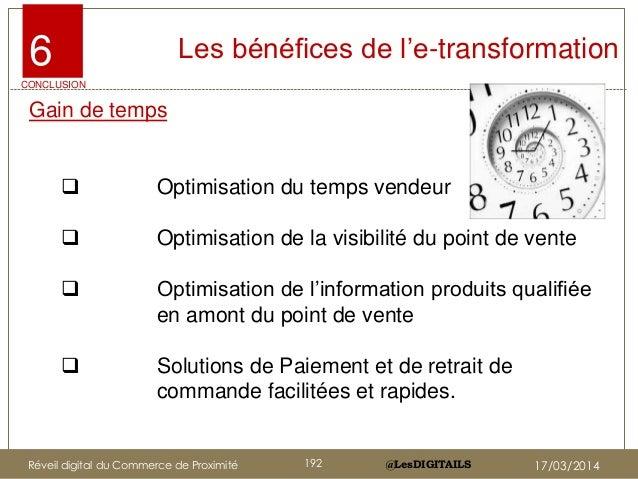 """@LesDIGITAILS@LesDIGITAILS Les bénéfices de l""""e-transformation Gain de temps  Optimisation du temps vendeur  Optimisatio..."""