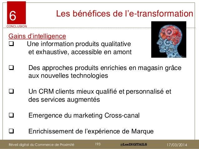 """@LesDIGITAILS@LesDIGITAILS Les bénéfices de l""""e-transformation Gains d""""intelligence  Une information produits qualitative..."""