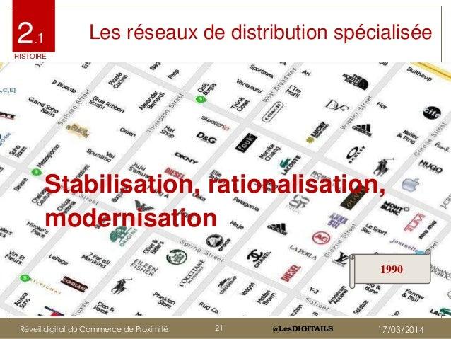 @LesDIGITAILS@LesDIGITAILS Les réseaux de distribution spécialisée Stabilisation, rationalisation, modernisation 1990 2.1 ...
