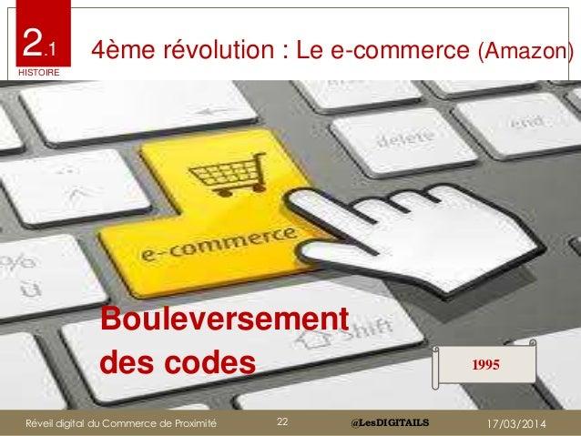 @LesDIGITAILS@LesDIGITAILS 4ème révolution : Le e-commerce (Amazon) Bouleversement des codes 1995 2.1 HISTOIRE Réveil digi...