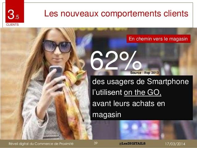 """@LesDIGITAILS@LesDIGITAILS Les nouveaux comportements clients 62% des usagers de Smartphone l""""utilisent on the GO, avant l..."""