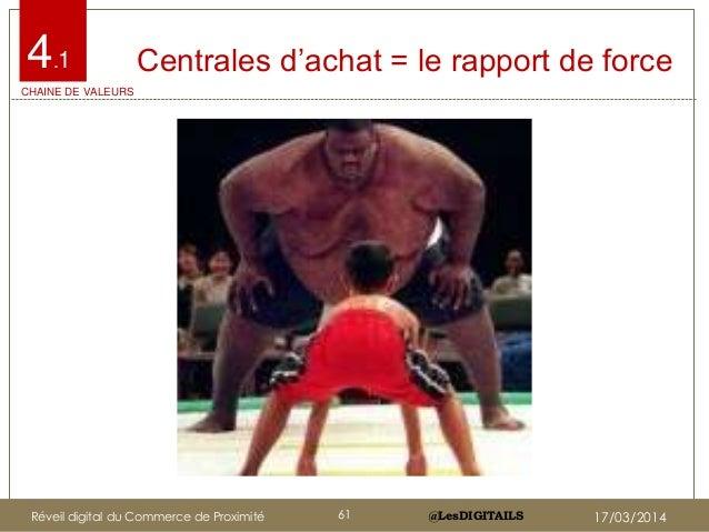 """@LesDIGITAILS@LesDIGITAILS Centrales d""""achat = le rapport de force4.1 CHAINE DE VALEURS Réveil digital du Commerce de Prox..."""
