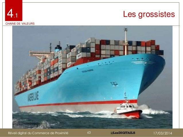 @LesDIGITAILS@LesDIGITAILS Les grossistes4.1 CHAINE DE VALEURS Réveil digital du Commerce de Proximité 63 17/03/2014