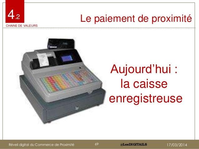 """@LesDIGITAILS@LesDIGITAILS Le paiement de proximité Aujourd""""hui : la caisse enregistreuse 4.2 CHAINE DE VALEURS Réveil dig..."""