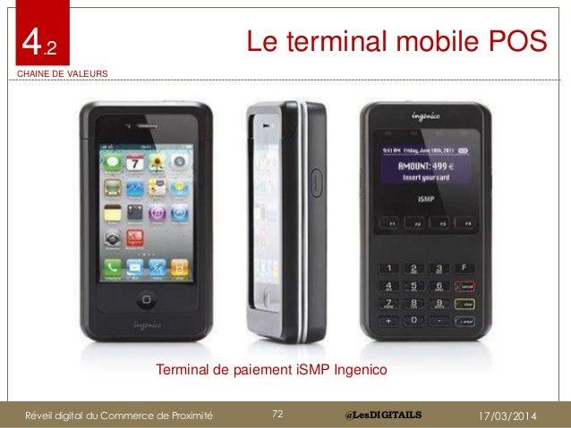 @LesDIGITAILS@LesDIGITAILS Le terminal mobile POS Terminal de paiement iSMP Ingenico 4.2 CHAINE DE VALEURS Réveil digital ...