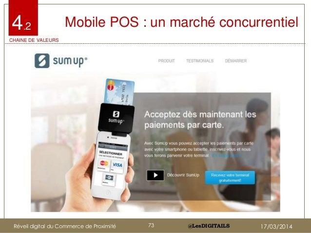 @LesDIGITAILS@LesDIGITAILS Mobile POS : un marché concurrentiel4.2 CHAINE DE VALEURS Réveil digital du Commerce de Proximi...