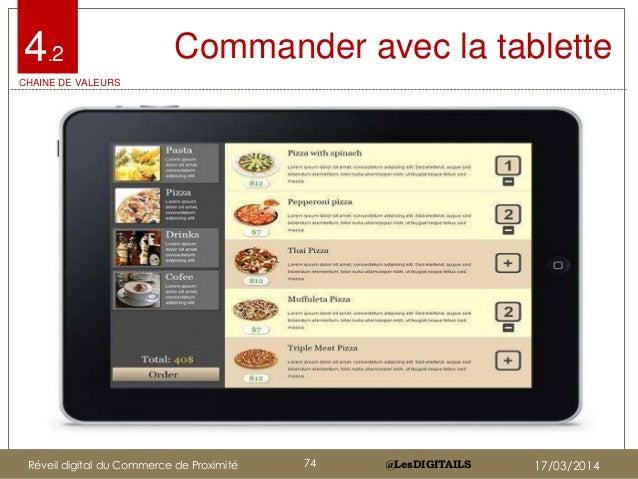 @LesDIGITAILS@LesDIGITAILS Commander avec la tablette4.2 CHAINE DE VALEURS Réveil digital du Commerce de Proximité 74 17/0...