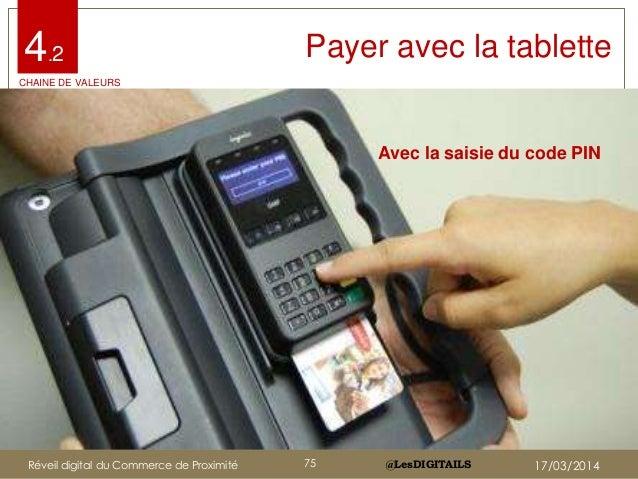 @LesDIGITAILS@LesDIGITAILS Payer avec la tablette Avec la saisie du code PIN 4.2 CHAINE DE VALEURS Réveil digital du Comme...