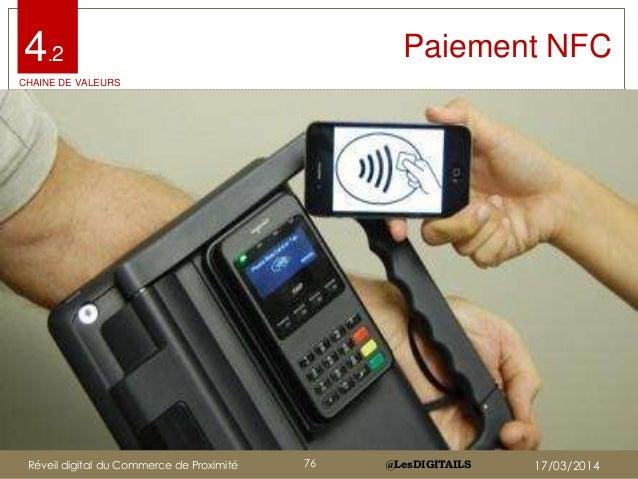 @LesDIGITAILS@LesDIGITAILS Paiement NFC4.2 CHAINE DE VALEURS Réveil digital du Commerce de Proximité 76 17/03/2014