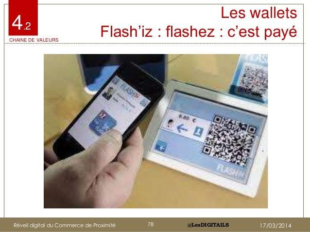"""@LesDIGITAILS@LesDIGITAILS Les wallets Flash""""iz : flashez : c""""est payé4.2 CHAINE DE VALEURS Réveil digital du Commerce de ..."""