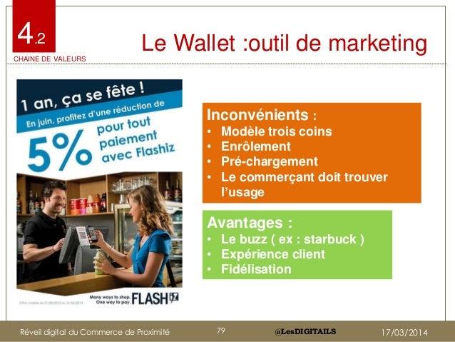 @LesDIGITAILS@LesDIGITAILS Le Wallet :outil de marketing Inconvénients : • Modèle trois coins • Enrôlement • Pré-chargemen...