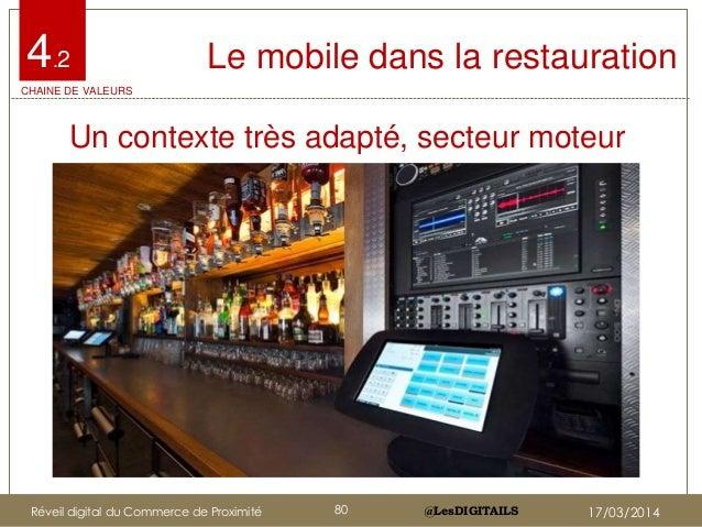 @LesDIGITAILS@LesDIGITAILS Le mobile dans la restauration • Un contexte très adapté, secteur moteur 4.2 CHAINE DE VALEURS ...