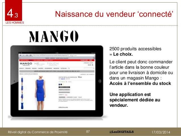 """@LesDIGITAILS@LesDIGITAILS 4.3 Naissance du vendeur """"connecté"""" 2500 produits accessibles = Le choix. Le client peut donc c..."""
