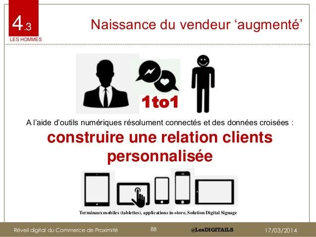 """@LesDIGITAILS@LesDIGITAILS Naissance du vendeur """"augmenté""""4.3 Terminaux mobiles (tablettes), applications in-store, Soluti..."""