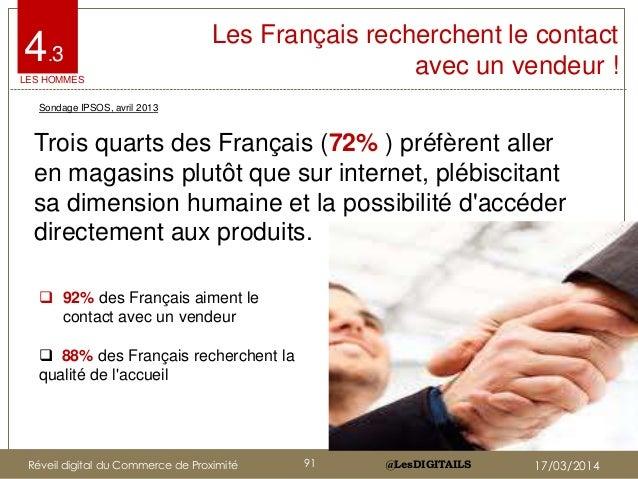 @LesDIGITAILS@LesDIGITAILS Les Français recherchent le contact avec un vendeur ! Trois quarts des Français (72% ) préfèren...