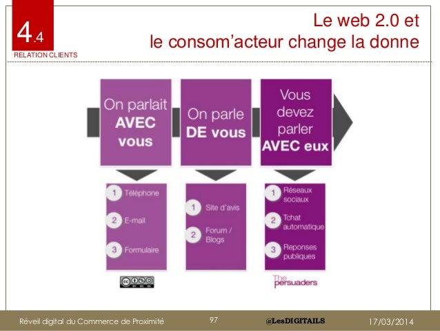 """@LesDIGITAILS@LesDIGITAILS Le web 2.0 et le consom""""acteur change la donne4.4 RELATION CLIENTS Réveil digital du Commerce d..."""