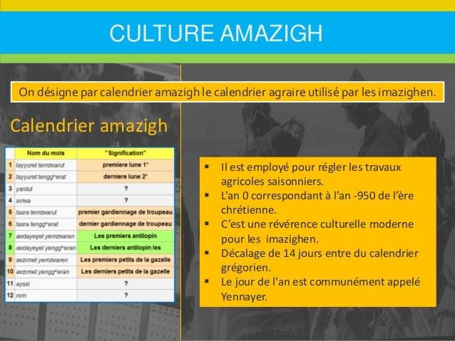 Les imazighen anthropologie et ethnologie for Table yennayer