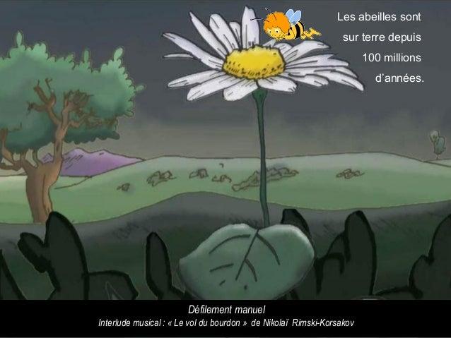 Les abeilles sont sur terre depuis 100 millions d'années. Défilement manuel Interlude musical : « Le vol du bourdon » de N...