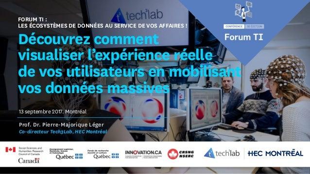 Forum TI : Les écosystèmes de données au service de vos affaires ! Découvrez comment visualiser l'expérience réelle de vos...