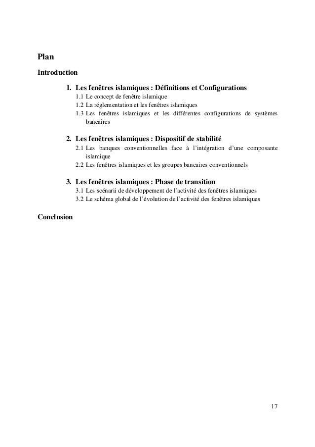17 Plan Introduction 1. Les fenêtres islamiques : Définitions et Configurations 1.1 Le concept de fenêtre islamique 1.2 La...