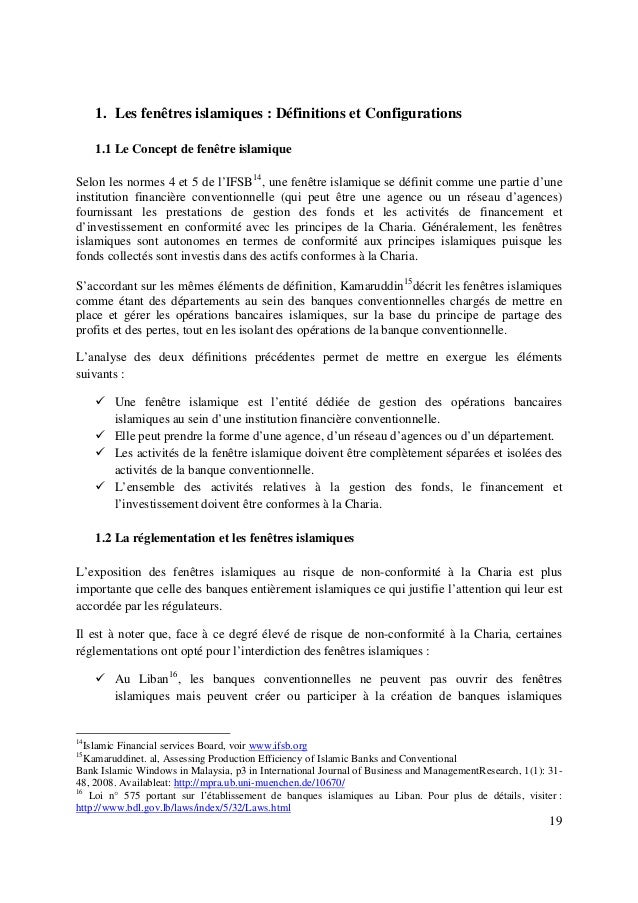 19 1. Les fenêtres islamiques : Définitions et Configurations 1.1 Le Concept de fenêtre islamique Selon les normes 4 et 5 ...
