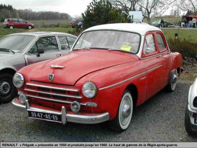 RENAULT « Frégate » présentée en 1950 et produite jusqu'en 1960. Le haut de gamme de la Régie après-guerre.