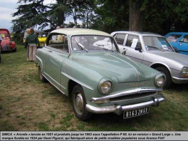 SIMCA « Aronde » lancée en 1951 et produite jusqu'en 1963 sous l'appellation P 60. Ici en version « Grand Large ». Une mar...