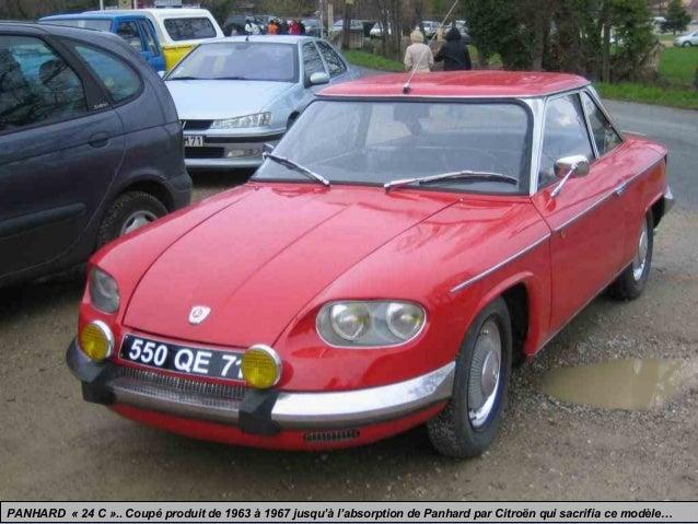 PANHARD « 24 C ».. Coupé produit de 1963 à 1967 jusqu'à l'absorption de Panhard par Citroën qui sacrifia ce modèle…