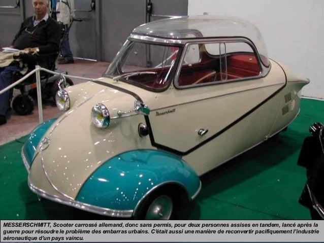 MESSERSCHMITT, Scooter carrossé allemand, donc sans permis, pour deux personnes assises en tandem, lancé après la guerre p...