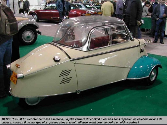 MESSERSCHMITT, Scooter carrossé allemand, La jolie verrière du cockpit n'est pas sans rappeler les célèbres avions de chas...