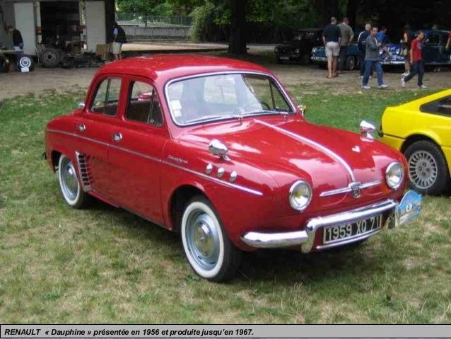 RENAULT « Dauphine » présentée en 1956 et produite jusqu'en 1967.