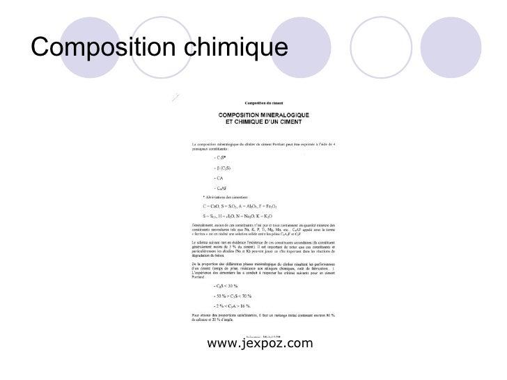 Composition chimique www.jexpoz.com