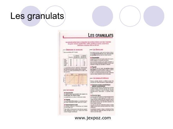 Les granulats www.jexpoz.com