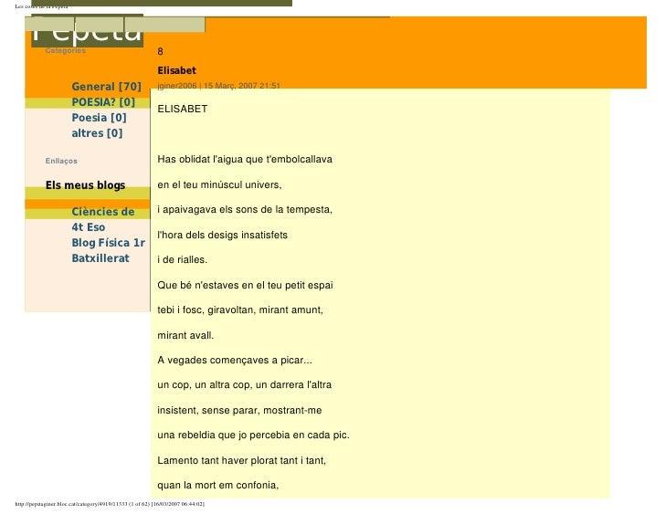 Les coses de la Les coses de la Pepeta           Pepeta                                               8             Catego...