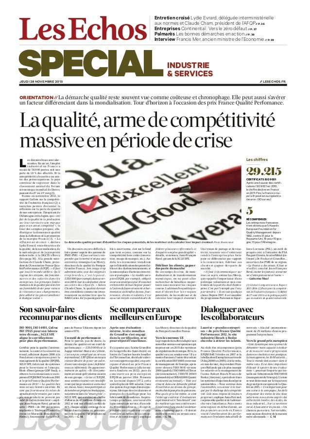 Entretien croisé Lydie Evrard, déléguée interministérielle aux normes et Claude Cham, président de l'AFQP// P. 36 Entrepri...