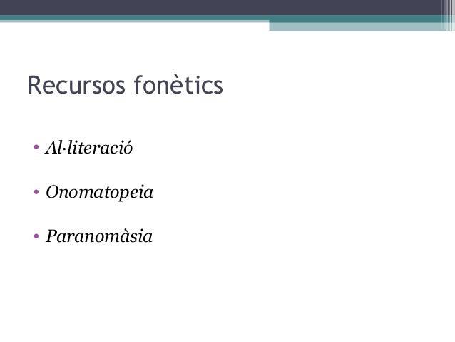 Les figures retòriques de la poesia Slide 2