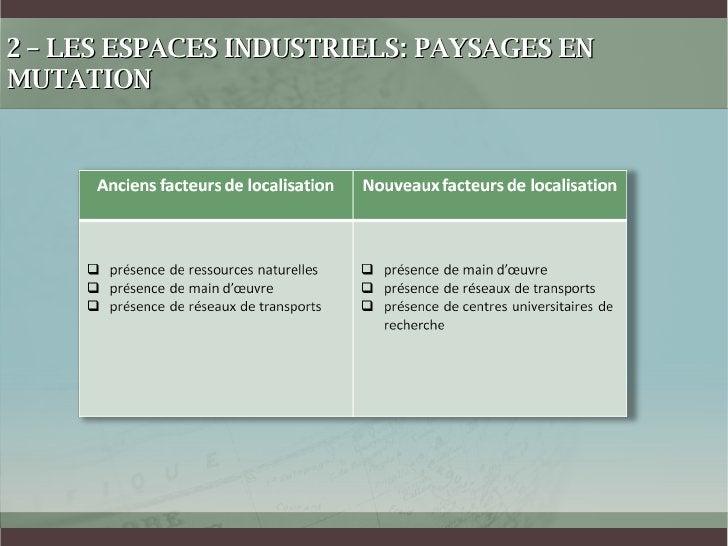 2 – LES ESPACES INDUSTRIELS: PAYSAGES EN MUTATION